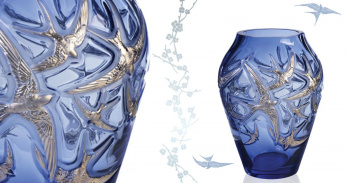 Crystal Swallows by Lalique